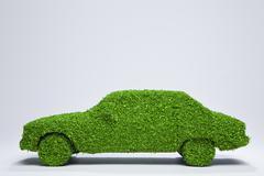 Green energy car. Stock Photos