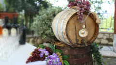 wine barrel - stock footage