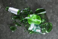 A smashed beer bottle Stock Photos