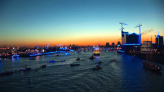 Hamburg Port Celebration 15 Stock Footage