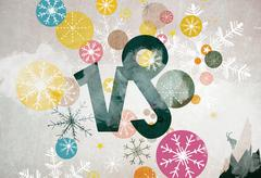 Astrological sign of Capricorn and winter motifs Stock Illustration