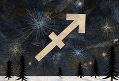 Astrological sign of Sagittarius Stock Illustration