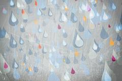 Rain drops falling Stock Illustration