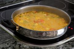 Cooking at home. casserole with delicious homemade recipe.cooking at home. ca Stock Photos
