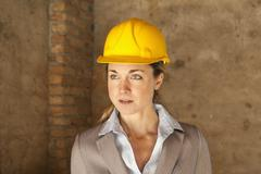 An architect, head and shoulders, portrait Stock Photos