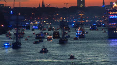 Hamburg Port Celebration 16 Stock Footage