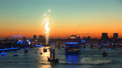 Hamburg Port Celebration 10 Stock Footage