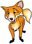 Standing Fox - stock illustration