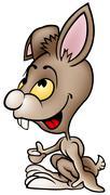 Brown Rabbit - stock illustration