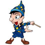 Blue Wizard Stock Illustration