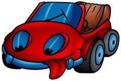 Red Car - stock illustration