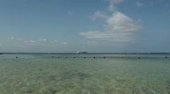 Cruiseship at the Bali beach Stock Footage