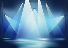 Stage Lights - stock illustration