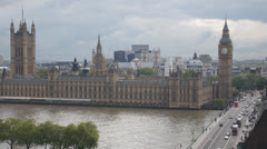 HD1080p25 The Palace of Westminster with Big Ben and Westminster Bridge Stock Footage