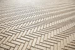 A tiled floor in a zigzag pattern, full frame Stock Photos