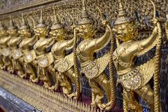 The Golden Garuda Model Stock Photos