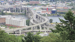 Marquam Bridge Freeway Timelapse in Portland Oregon Stock Footage