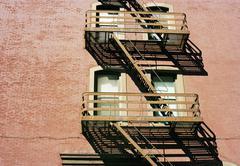 Building fire escape Stock Photos