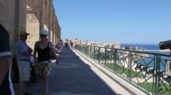 Maltese impressions - La Valletta view Stock Footage