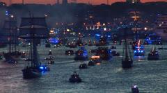 Hamburg Port Celebration 1 Stock Footage