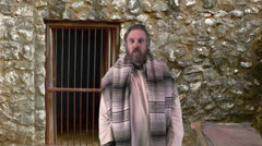 Paul Preaches From Prison, Slow Zoom Stock Footage