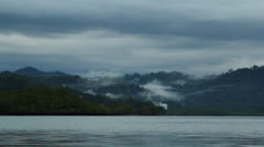 Misty Mountains From Shoreline In Costa Rica HD Video Stock Footage