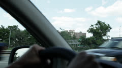 Driving With Hands On The Steering Wheel In New Jersey HD Video Stock Footage