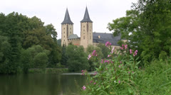 Rochlitz Castle at Mulde River - Saxony, Germany Stock Footage