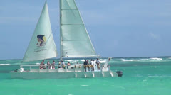 Catamarans, Sail Boats, Watercraft, Ocean Stock Footage