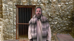 The Apostle Paul Preaches From Prison I - stock footage