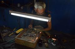 Handwerker - craftsman - stock photo