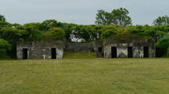 Military Ruins Stock Footage