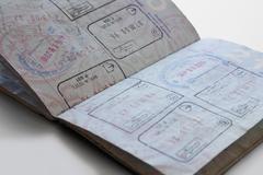 Yhdysvallat passi eri maiden postimerkkejä Kuvituskuvat