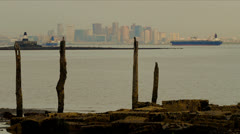Boston from Harbor Islands Stock Footage