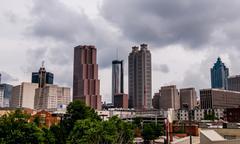 Siluetti Atlanta, Georgia Kuvituskuvat