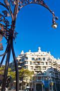 Barcelona, spain - november 11: casa mila or la pedrera was designed by anton Stock Photos