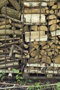 An abundance of chopped firewood Stock Photos
