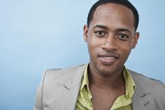 A handsome young black man, portrait Stock Photos
