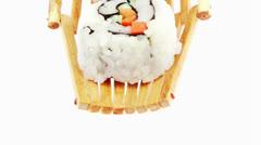 Japanese style cuisine - maki and nigiri sushi Stock Footage