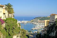 Sea port of Monte-Carlo - stock photo