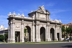 Puerta de Alcala (Alcala Gate) in Madrid Stock Photos
