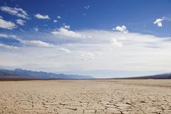 Säröillä maa at Death Valley, Kalifornia Kuvituskuvat