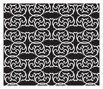 Black and white pattern Stock Illustration