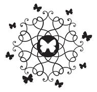 Butterflies & decorative elements. Stock Illustration