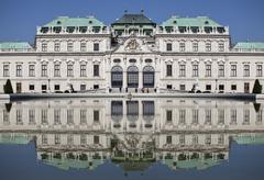 Upper Belvedere Palace, Vienna, Austria, front view Stock Photos