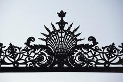 Intricate wrought iron design, detail Stock Photos
