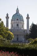 Karlskirche (St Charles Church), Vienna, Austria - stock photo