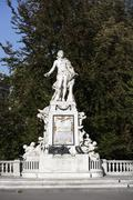 A statue of Wolfgang Amadeus Mozart, Vienna, Austria Stock Photos