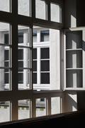 Array of square windows - stock photo