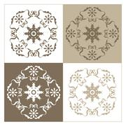 Four varied designs Stock Illustration